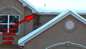 Ice on a roof